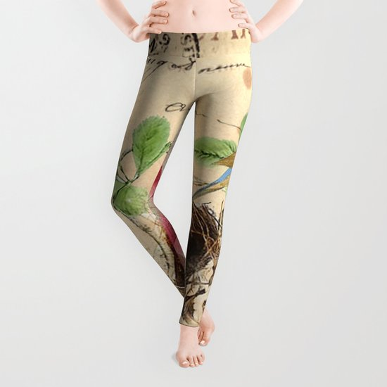 Vintage flower #15 Leggings