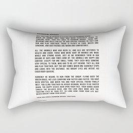 Rainbow Bridge Poem 2 #inspirational #pet #love Rectangular Pillow