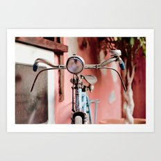 Vintage bicycle Art Print