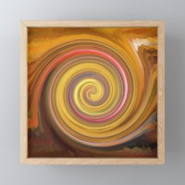 Swirls of digital paint Framed Mini Art Print