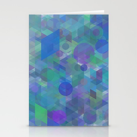 Panelscape + circles  - #1 society6 custom generation Stationery Cards