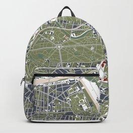 Berlin city map engraving Backpack
