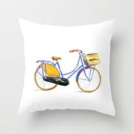 Dutch bike Throw Pillow