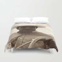cowboy bebop Duvet Covers featuring Cowboy by DistinctyDesign
