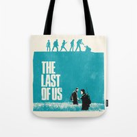 the last of us Tote Bags featuring The Last Of Us by Bill Pyle