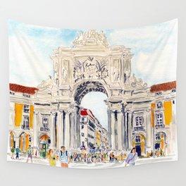 Praça do Comércio, Lisboa Wall Tapestry