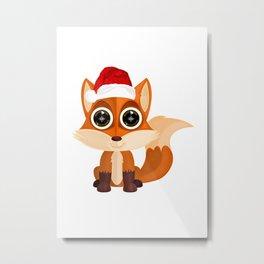 Christmas Fox Metal Print