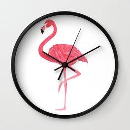 Flamingo fuchsia flap Wall Clock