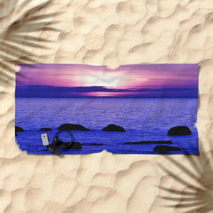 Dusk on the Saint-Lawrence Beach Towel