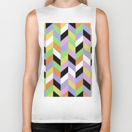Stacked Colour Biker Tank
