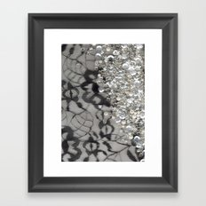 Black Lace and Bling Framed Art Print