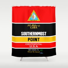 Southern Most Point, Key West, Florida/サザン・モスト・ポイント Shower Curtain