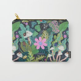 Beetle Pattern Carry-All Pouch