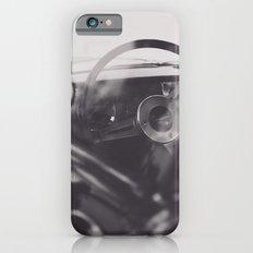 Super car details, british triumph spitfire, black & white, high quality fine art print, classic car Slim Case iPhone 6s