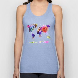 Map of the world Unisex Tank Top