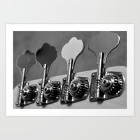 bass Art Prints featuring Bass by Jake Stanton