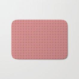 Red Geometric Bath Mat