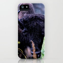Rainy day with Bison iPhone Case