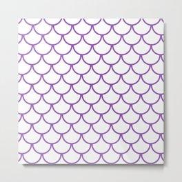 Purple Fish Scales Pattern Metal Print