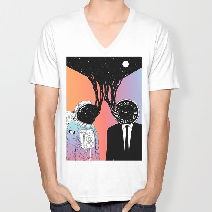 A Portrait of Space and Time ( A Study of Existence) Unisex V-Neck