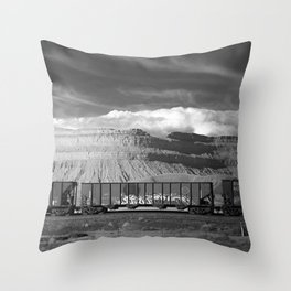 Boxcars Throw Pillow