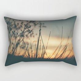 Vintage Wild Grass Sunset Rectangular Pillow