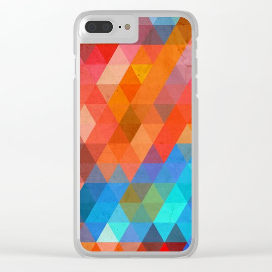 Color Triangles Clear iPhone Case