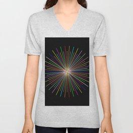 Strands Of Light 2 - Abstract, Spectral Pattern Unisex V-Neck