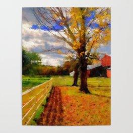 Massachusetts - Autumn Colors Poster