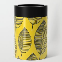 Yellow Navy Leaf Pattern Can Cooler