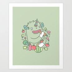 healthy monster Art Print