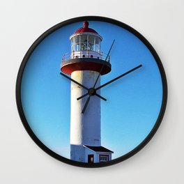 Cap de la Madelaine Lighthouse Wall Clock
