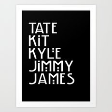American Horror Names Art Print