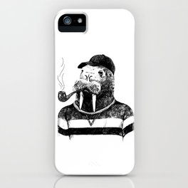 Walrus with a Pipe iPhone Case