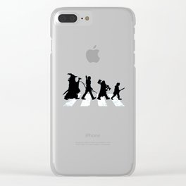 abbey road with hobbits Clear iPhone Case