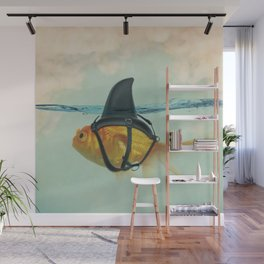 Goldfish with a Shark Fin Wall Mural