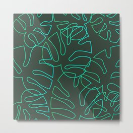 Monstera Plant Background - Poster - Nature Metal Print