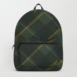 Green yellow plaid Backpack