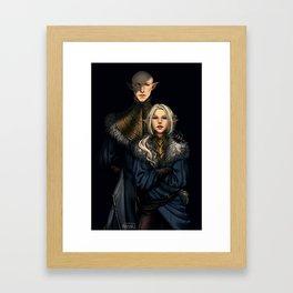 Wolves den Framed Art Print