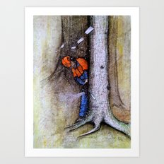 Arborist tree surgeon stil husqvarana hainsaw art Art Print