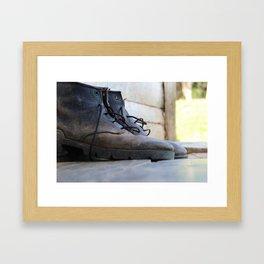 I would walk 500 miles Framed Art Print