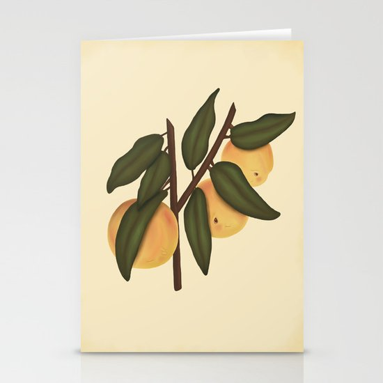 Bashful Peaches Stationery Cards