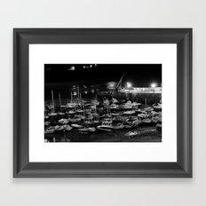 those boats look drunk. Framed Art Print