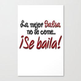 Dance Salsa! Canvas Print