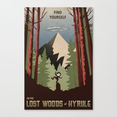 Legend of Zelda- Find Yourself in the Lost Woods Canvas Print