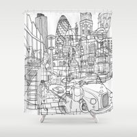 london Shower Curtains featuring London! by David Bushell