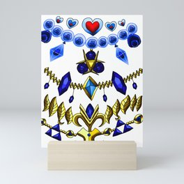 LOZ Design #2 - Blue Gems of Hyrule Mini Art Print