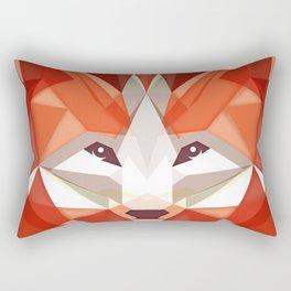 the glaring fox Rectangular Pillow
