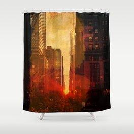 Midtown, Urban Grunge Shower Curtain