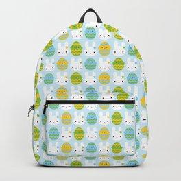Kawaii Easter Bunny & Eggs Backpack